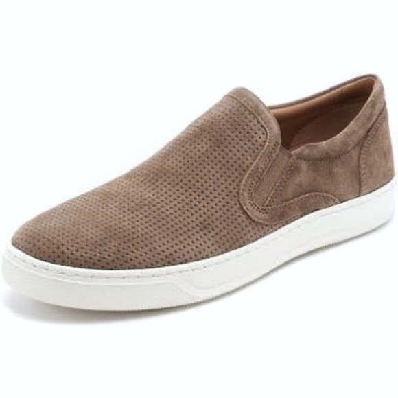 Vince Other - Vince Ace Perforated Suede Slip On Sneakers
